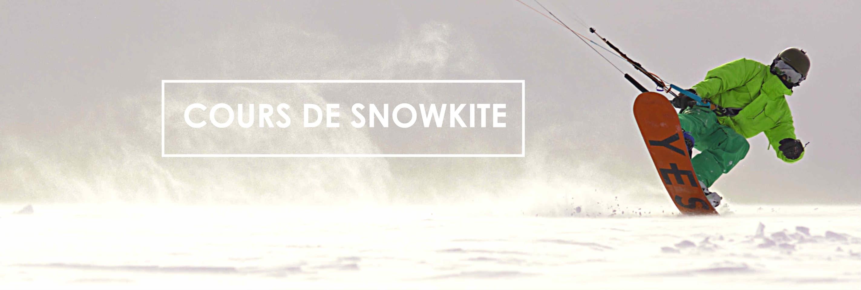 Cours de Snowkite